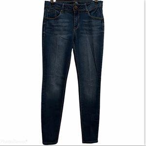 1822 Denim Dark Wash High Rise Skinny Jeans